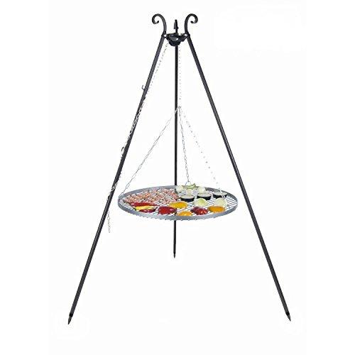 Dreibein schwenkgrill mit stahl rost von farmcook schwenkgrill - Grille barbecue 80 cm ...