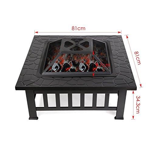 femor garten feuerschale quadratisch metall feuerstelle terassenofen 81 x 44 x 81 cm. Black Bedroom Furniture Sets. Home Design Ideas