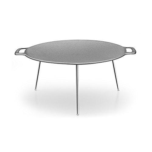 muurikka finnische grillpfanne 58 cm aus 3 mm hei gewalztem stahlblech und standbeinen aus. Black Bedroom Furniture Sets. Home Design Ideas