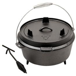 BBQ-TORO Dutch Oven Premium Serie, Größenauswahl, Gusseisen Kochtopf Bräter mit Deckelheber (ca. 9 Liter) - 1