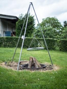 Schwenkgrill-abc Edelstahl Dreibein Schwenkgrill mit Grillrost ab 50cm2