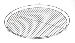 HeRo24 50cm Chrom Grillrost Grill Rost Grillgitter rund (R) - 1